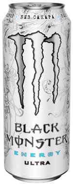 Black Monster Energy Ultra, Энергетики